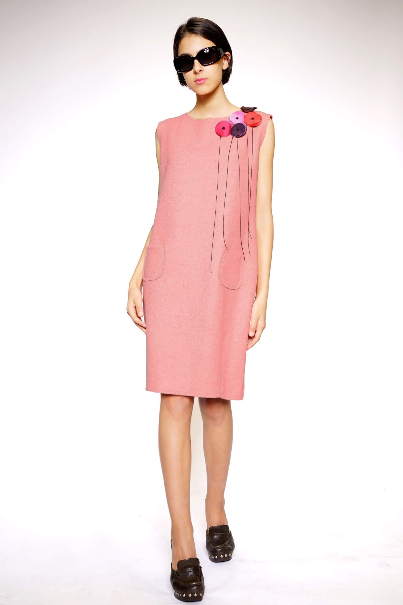 Pink wool dress
