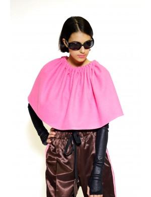 Pink fabric cape