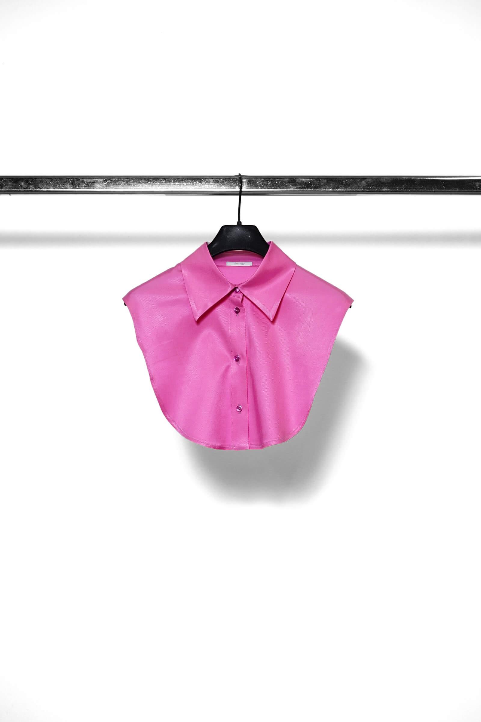 Pink shirt collar