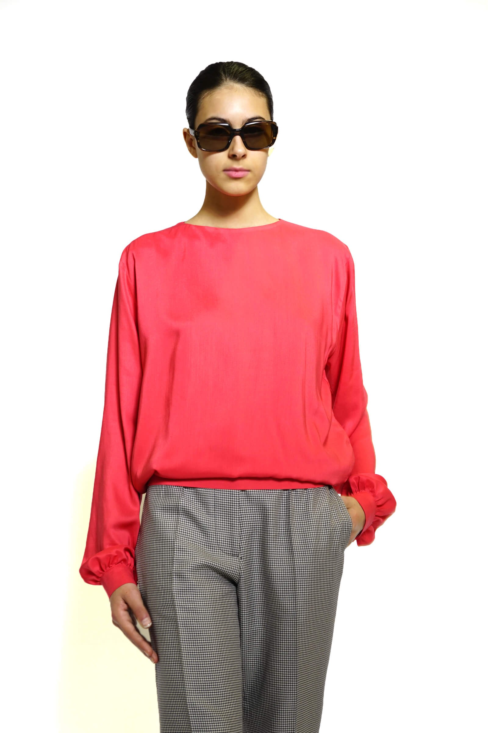 Red blouse with an...