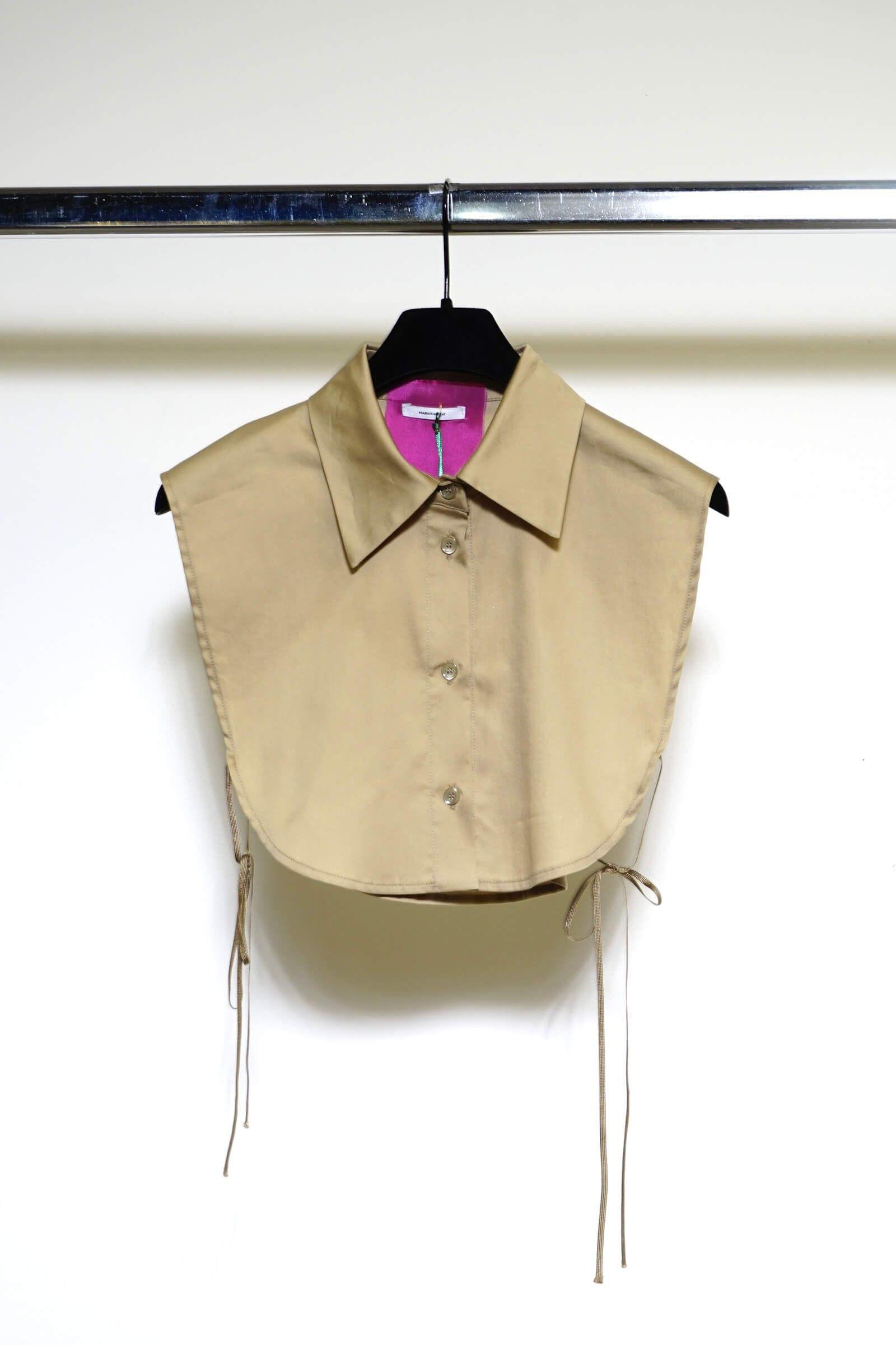 Beige shirt collar