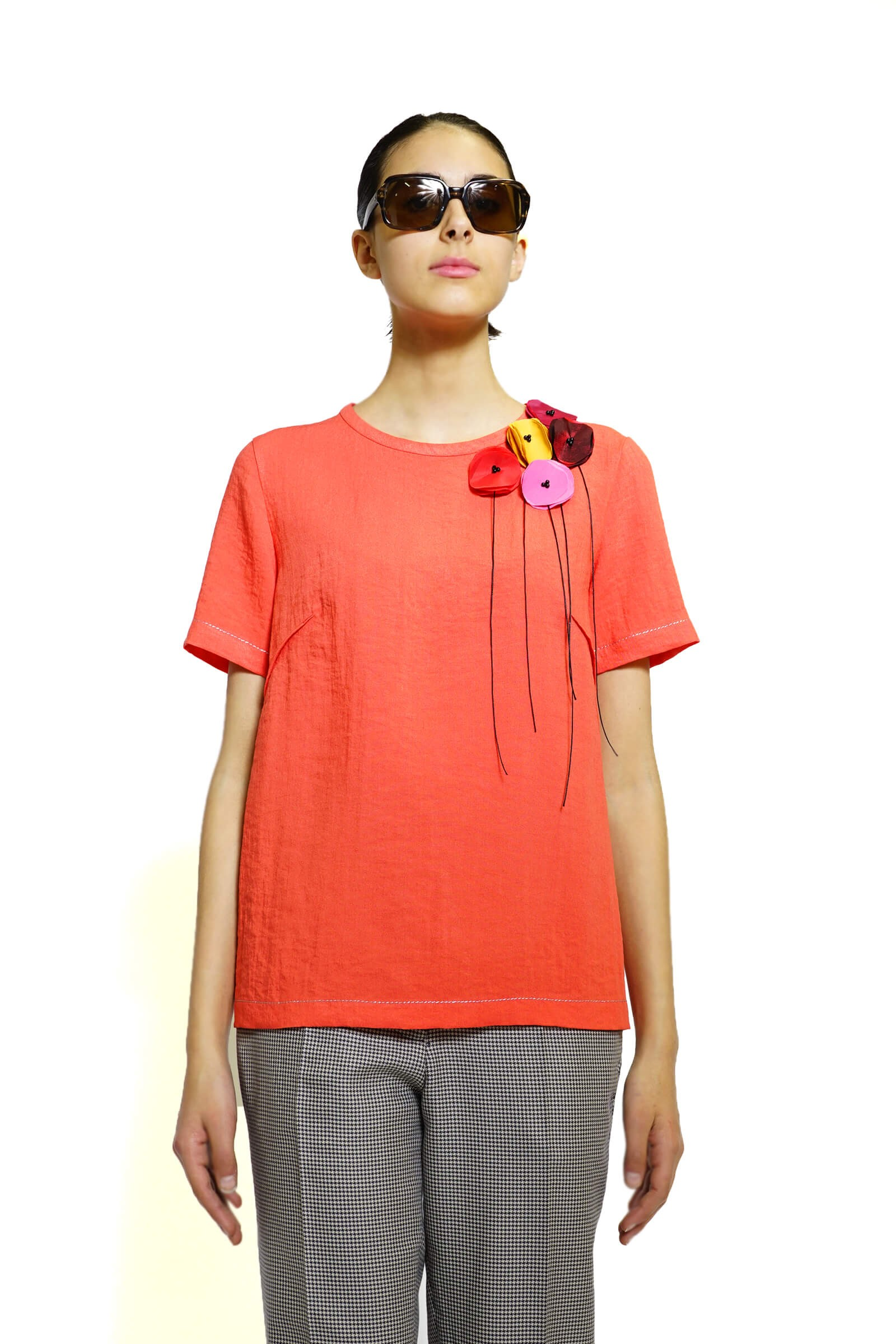 Red top with small poppies