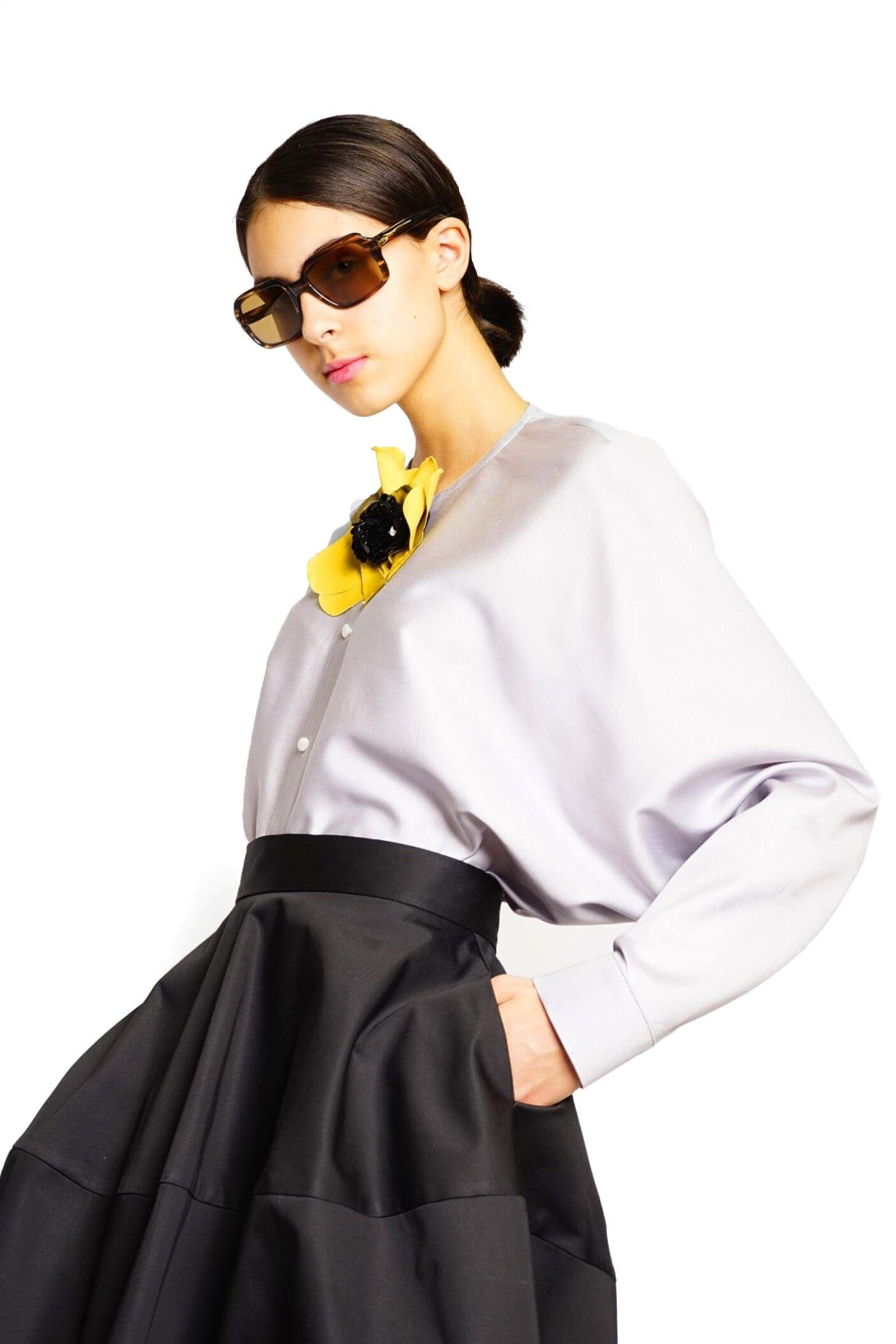 Gray cotton kimono shirt