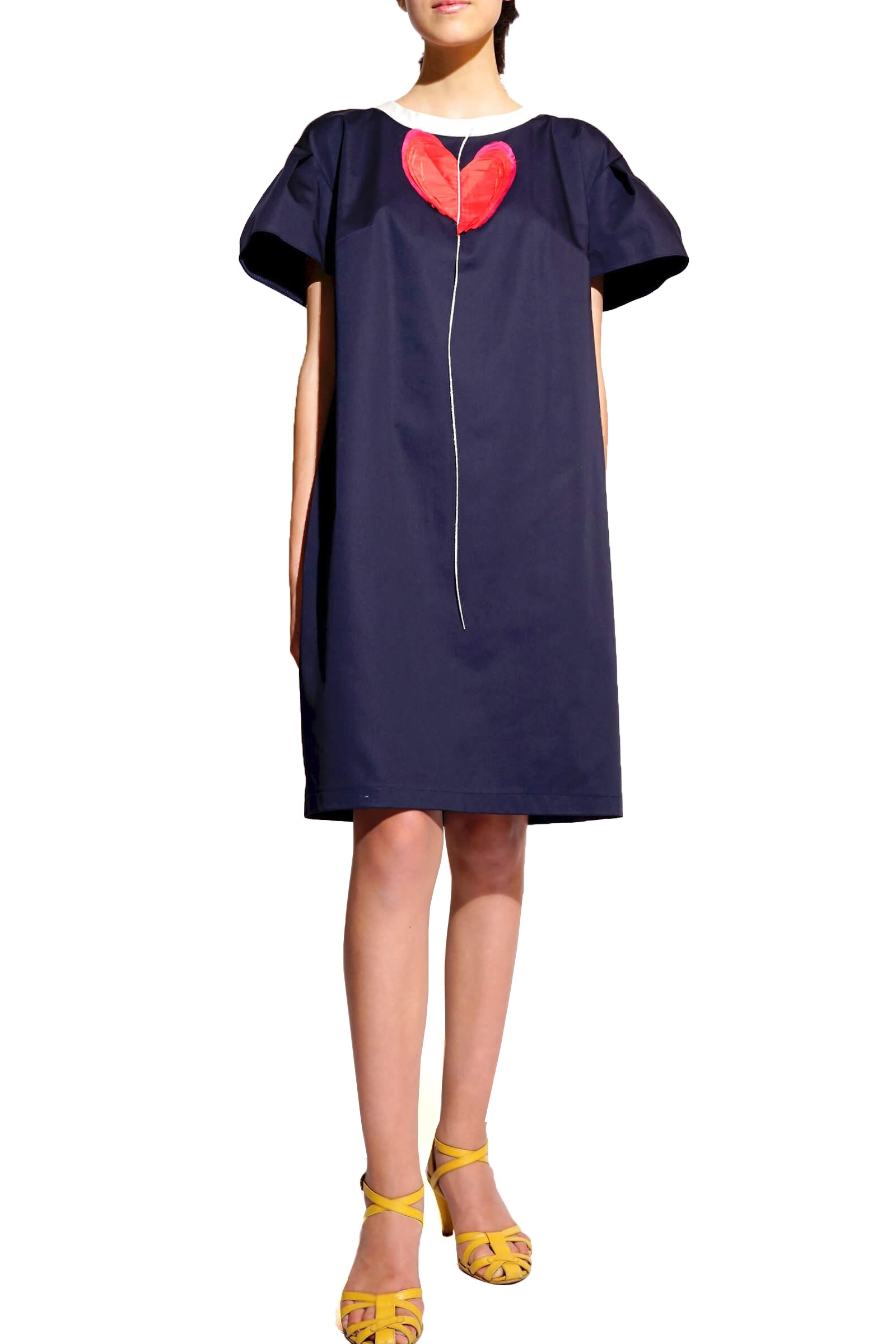 Navy blue dress with heart