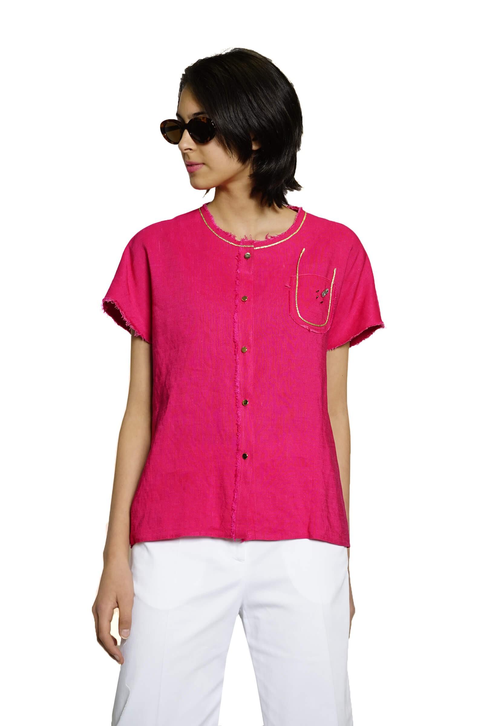 Cyclamen shirt