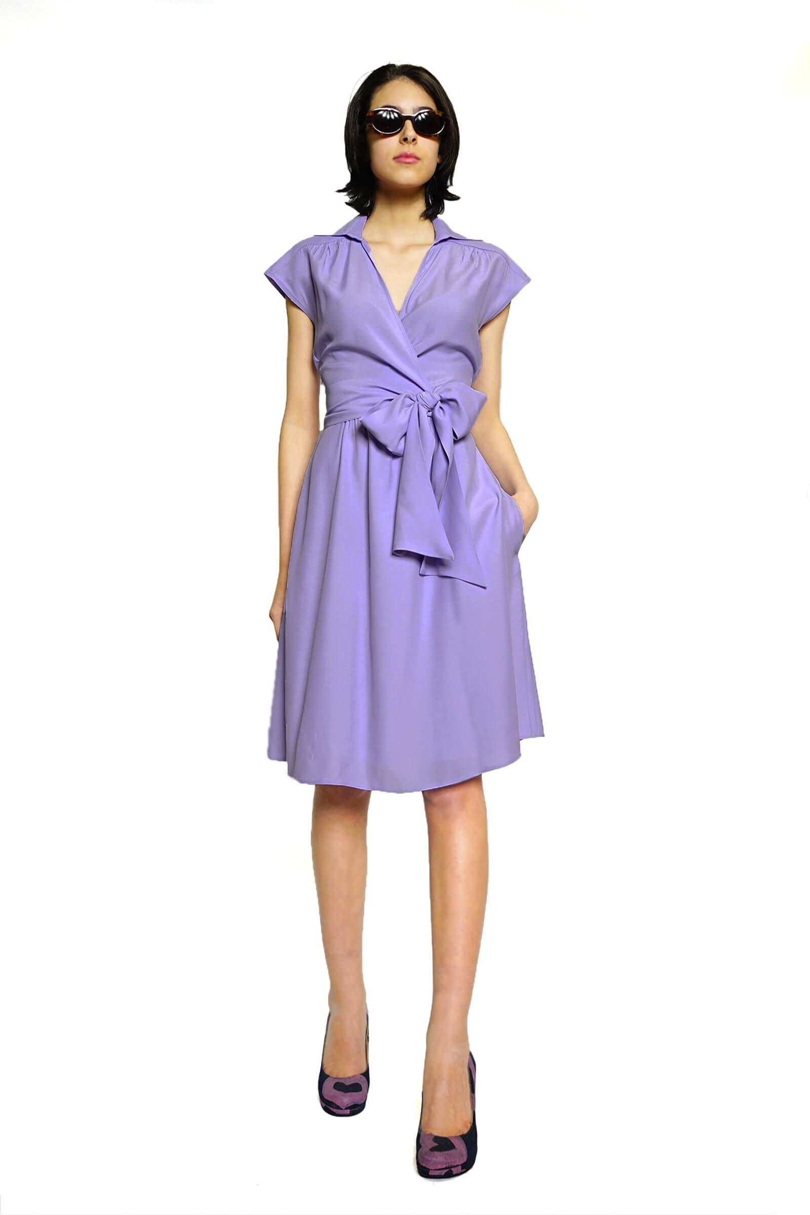 Lilac kimono dress