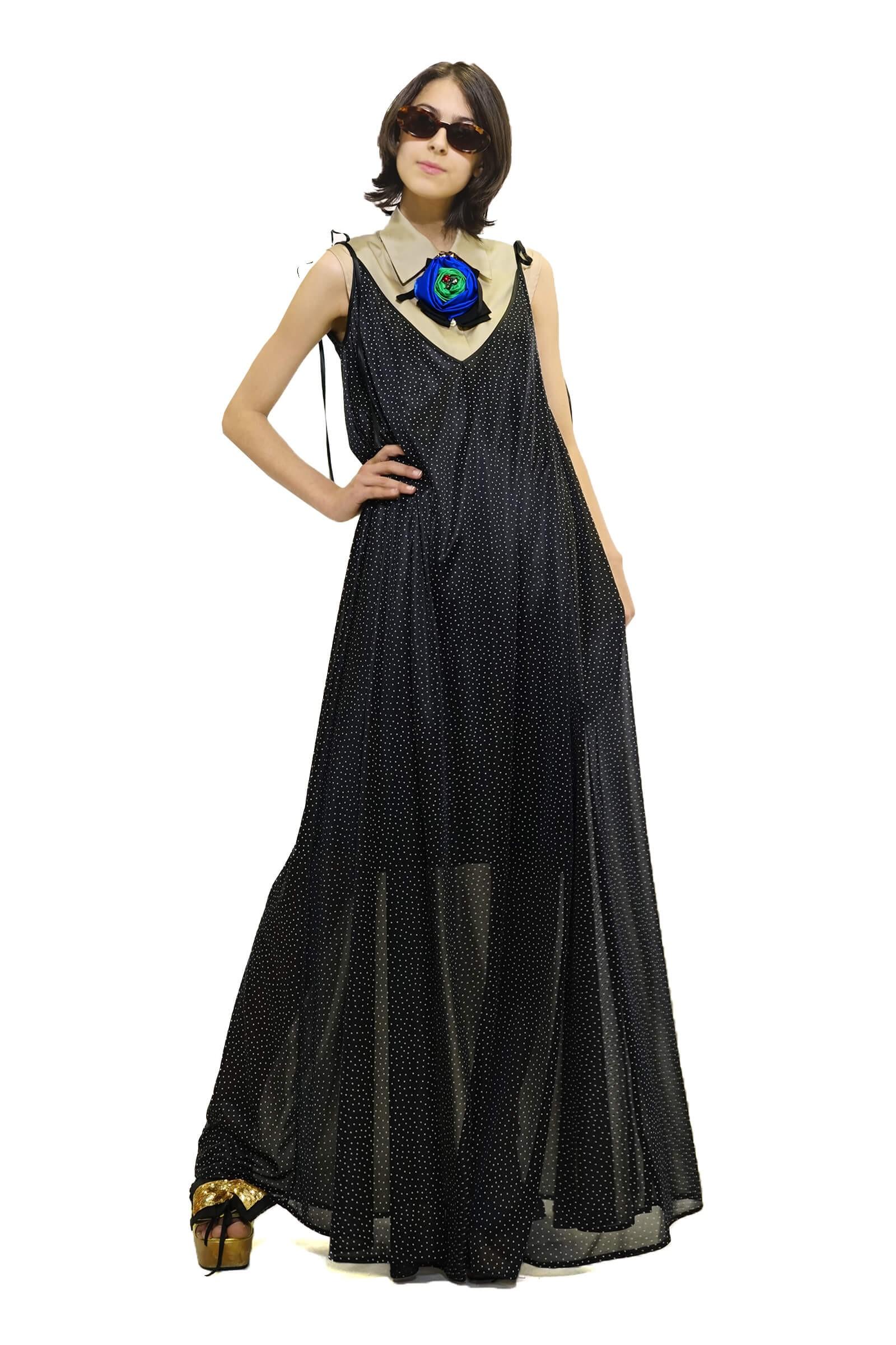 Rochie lunga neagră cu...