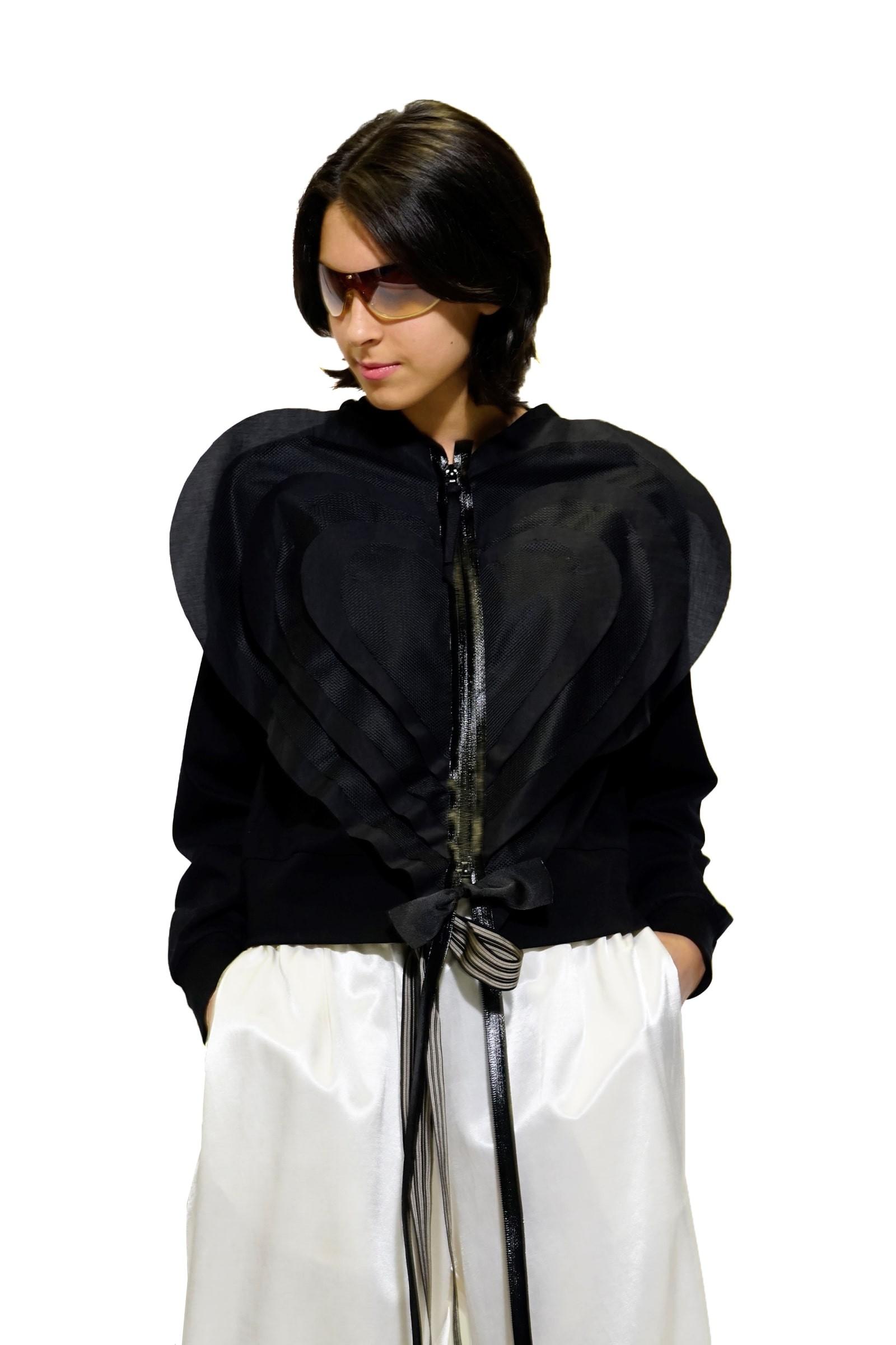 Black sweatshirt with a big...