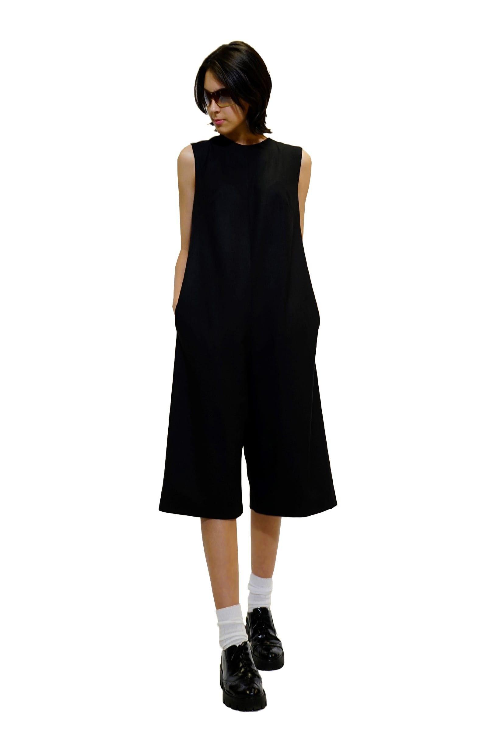 Black jumpsuit with a cut...