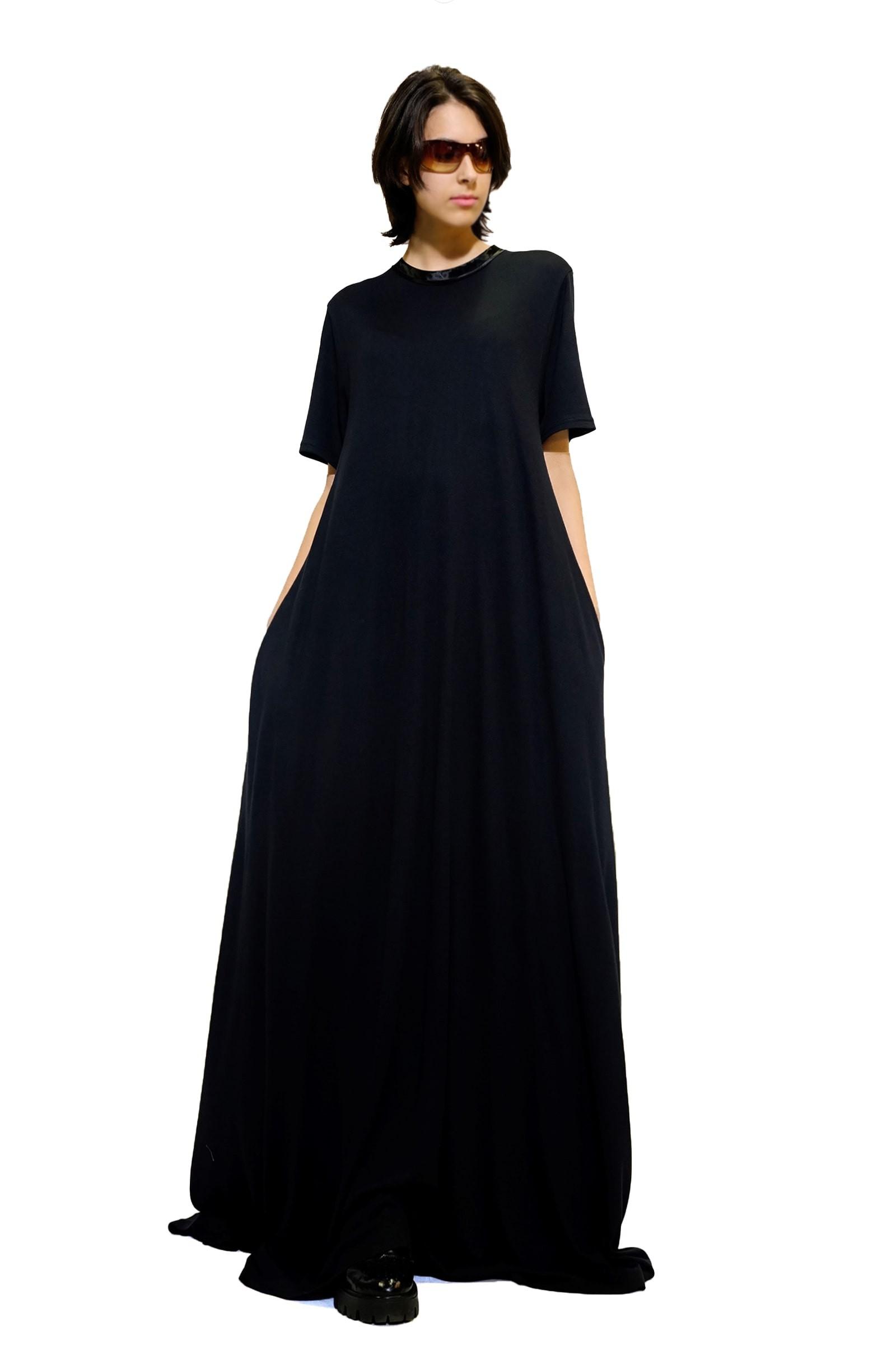Rochie-tricou lunga neagra