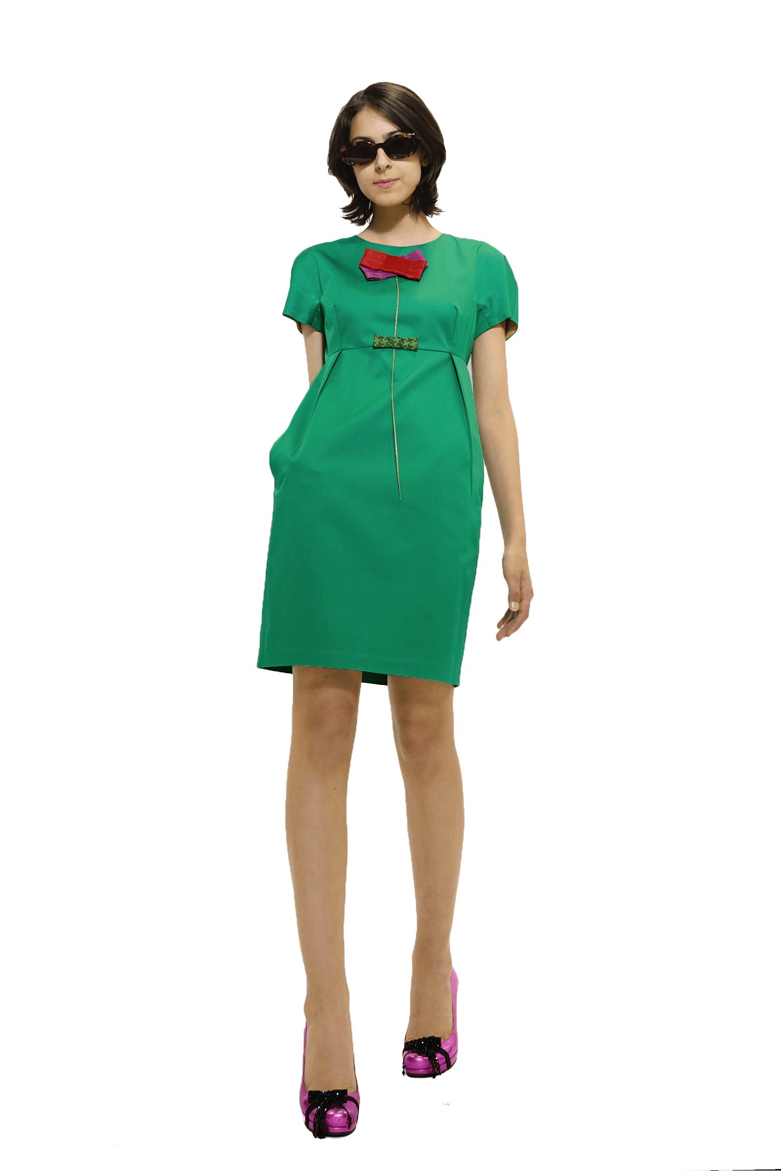 Rochie verde scurta chimono...