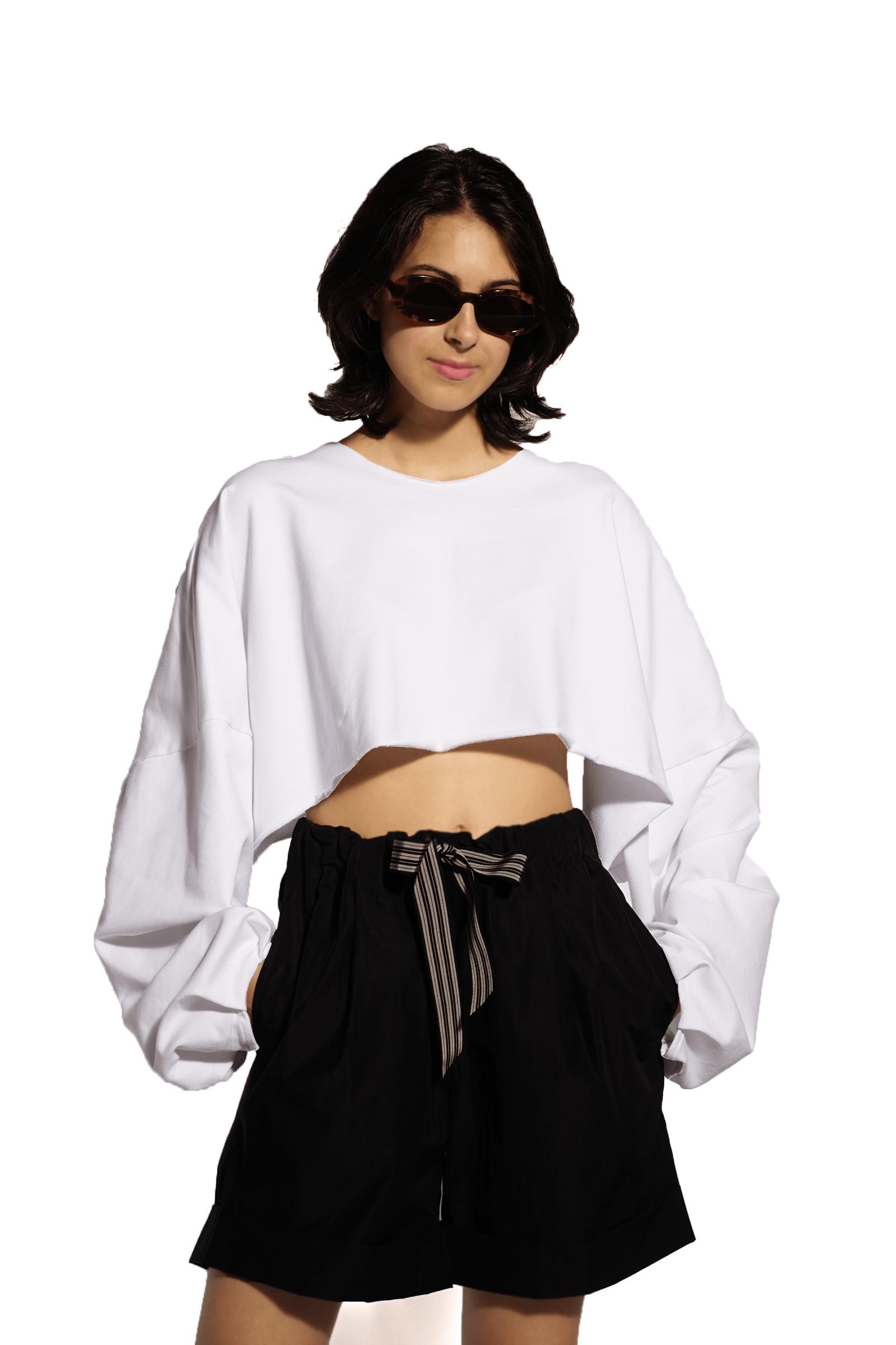 Short white top