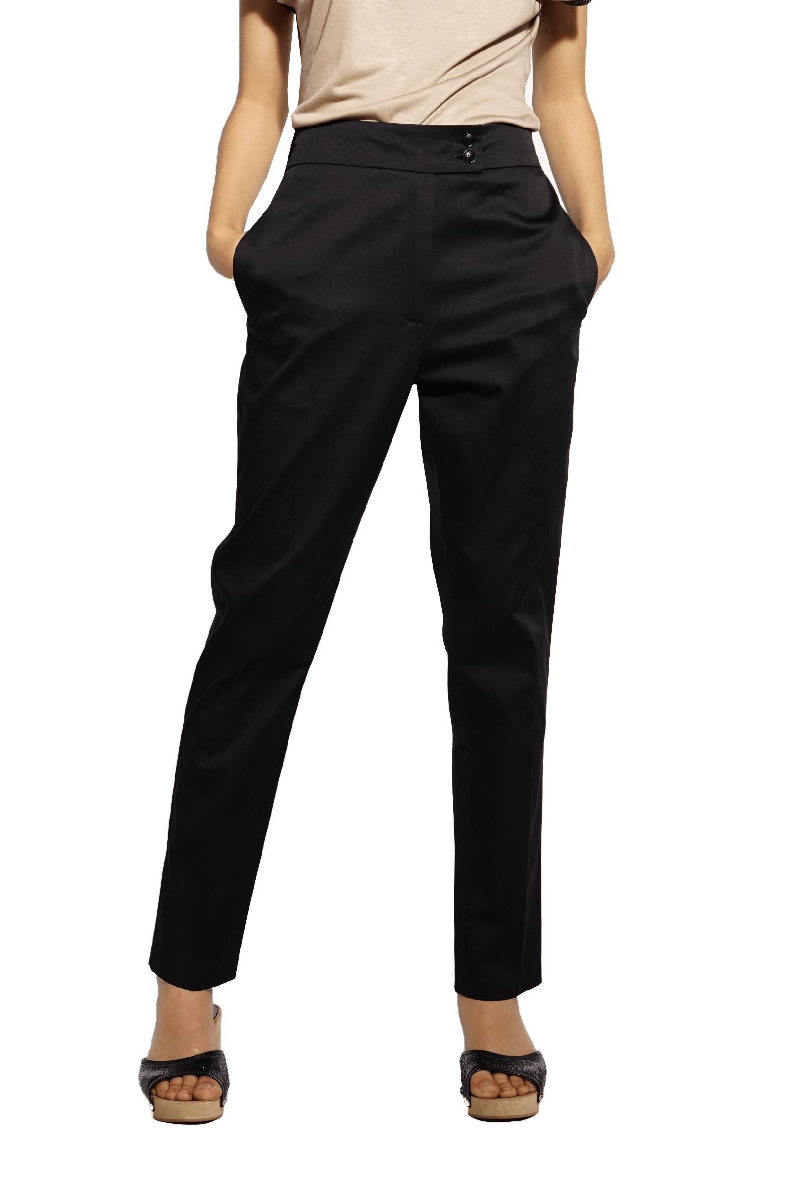 Black pants with elastic at...