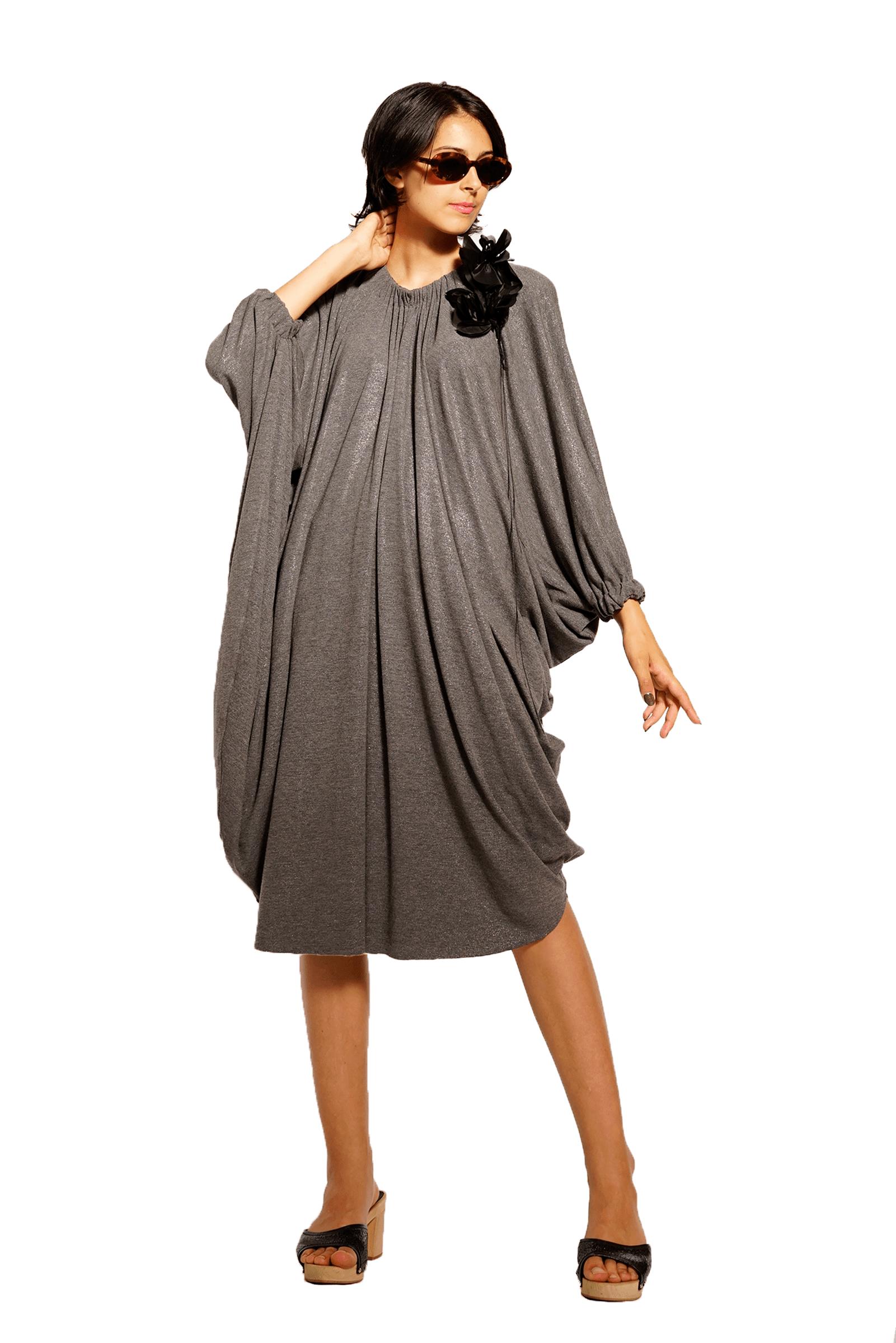 Wide jersey dress