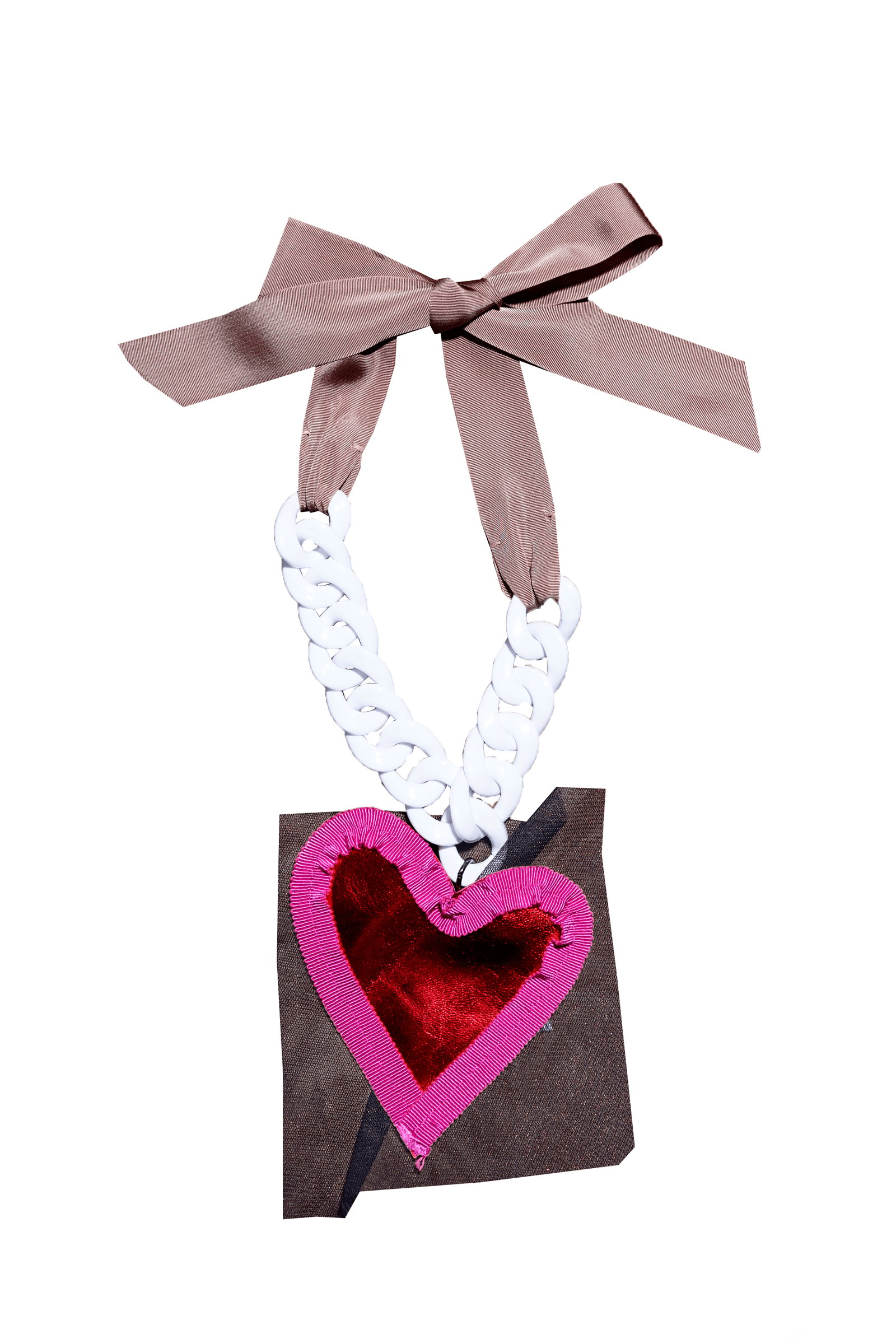 Leather heart necklace
