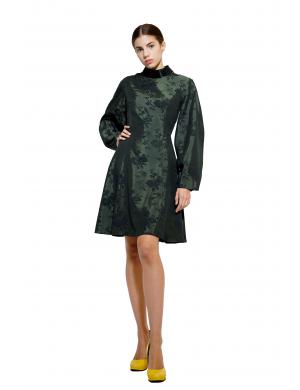 Green brocade dress