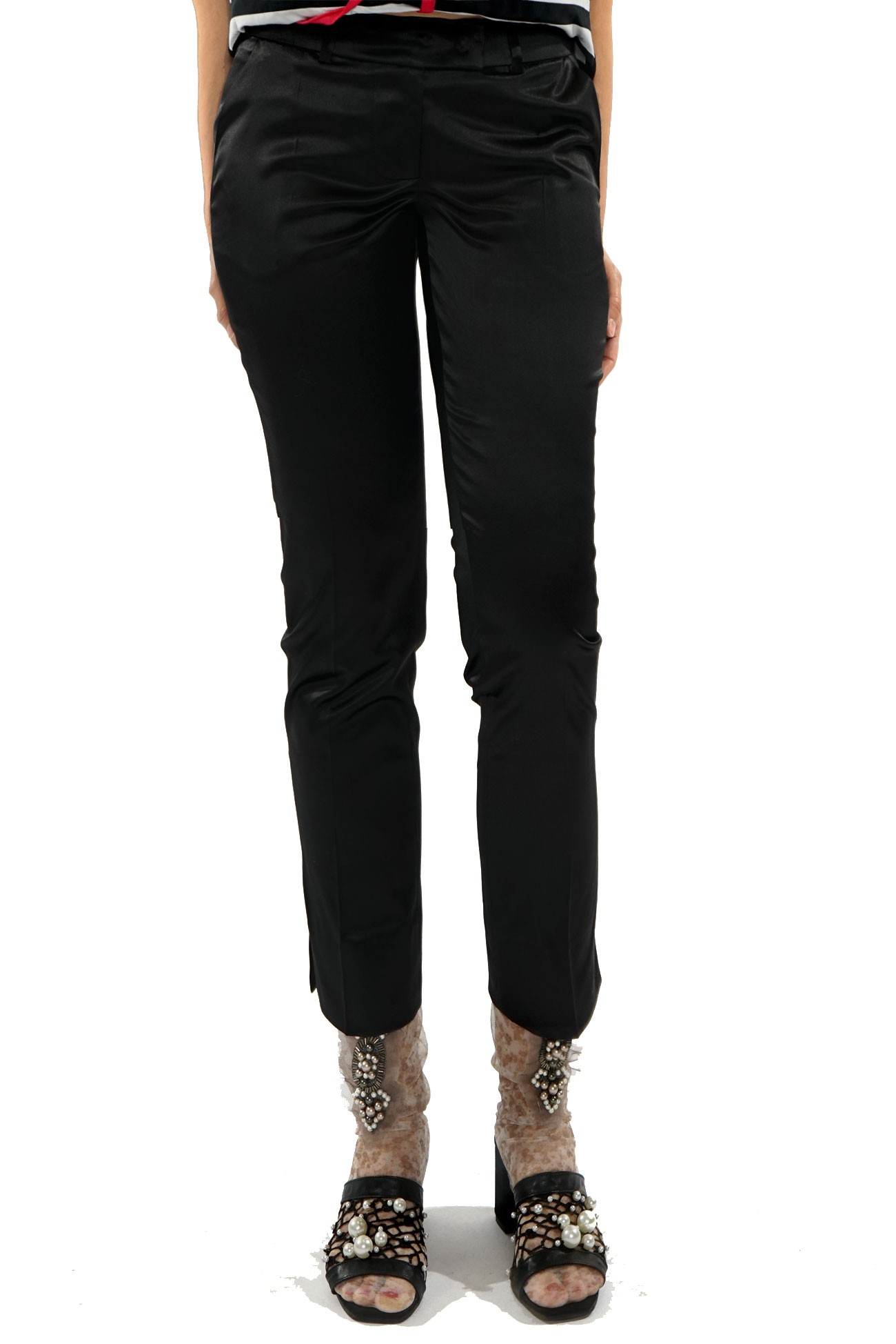 Pantalon conic negru