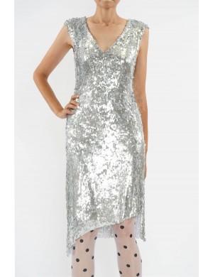 rochie din paiete cu terminatii asimetrice
