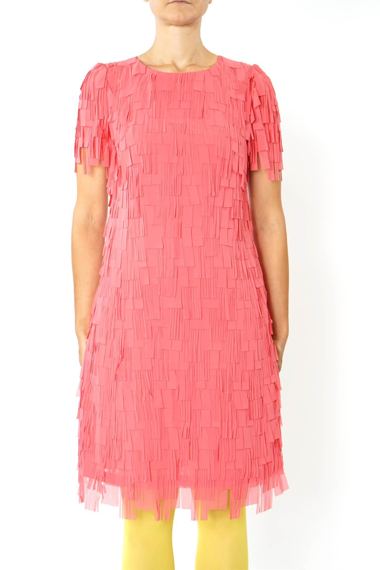 rochie dreapta cu franjuri