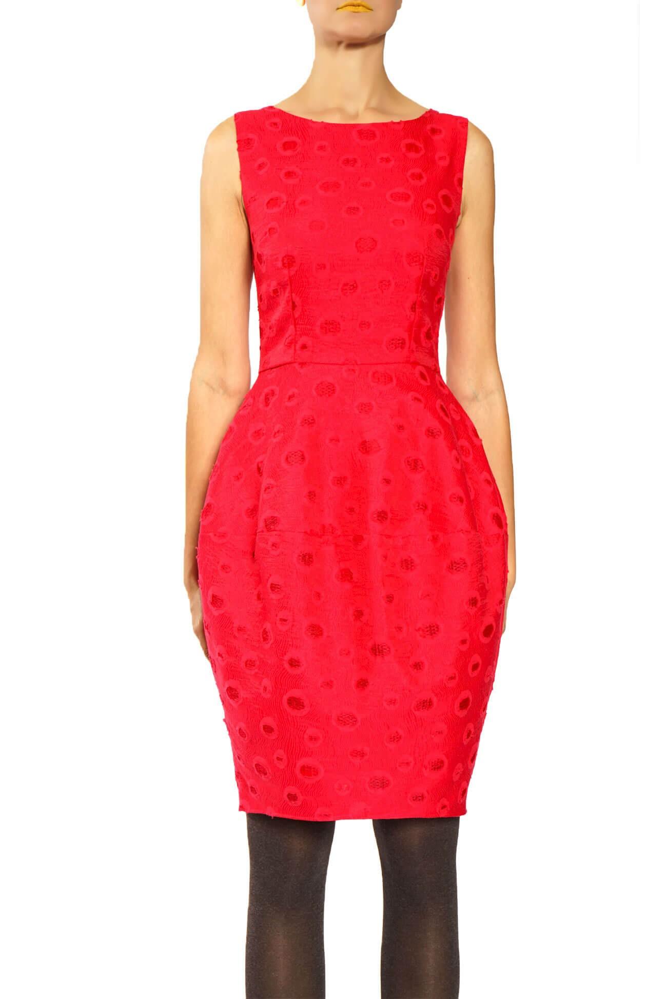 rochie gogosar din brocard