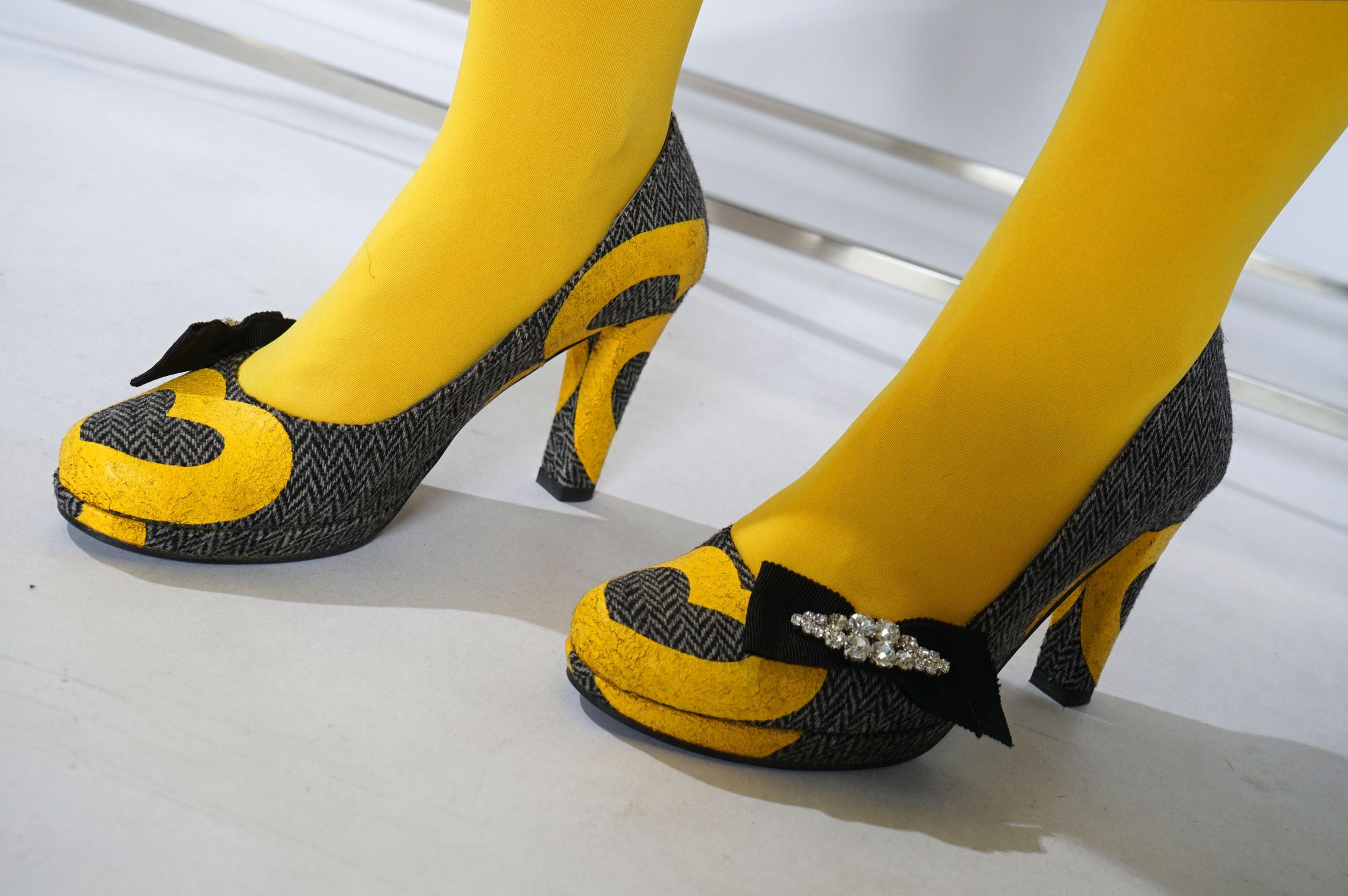 pantof din stofa lana imprimat