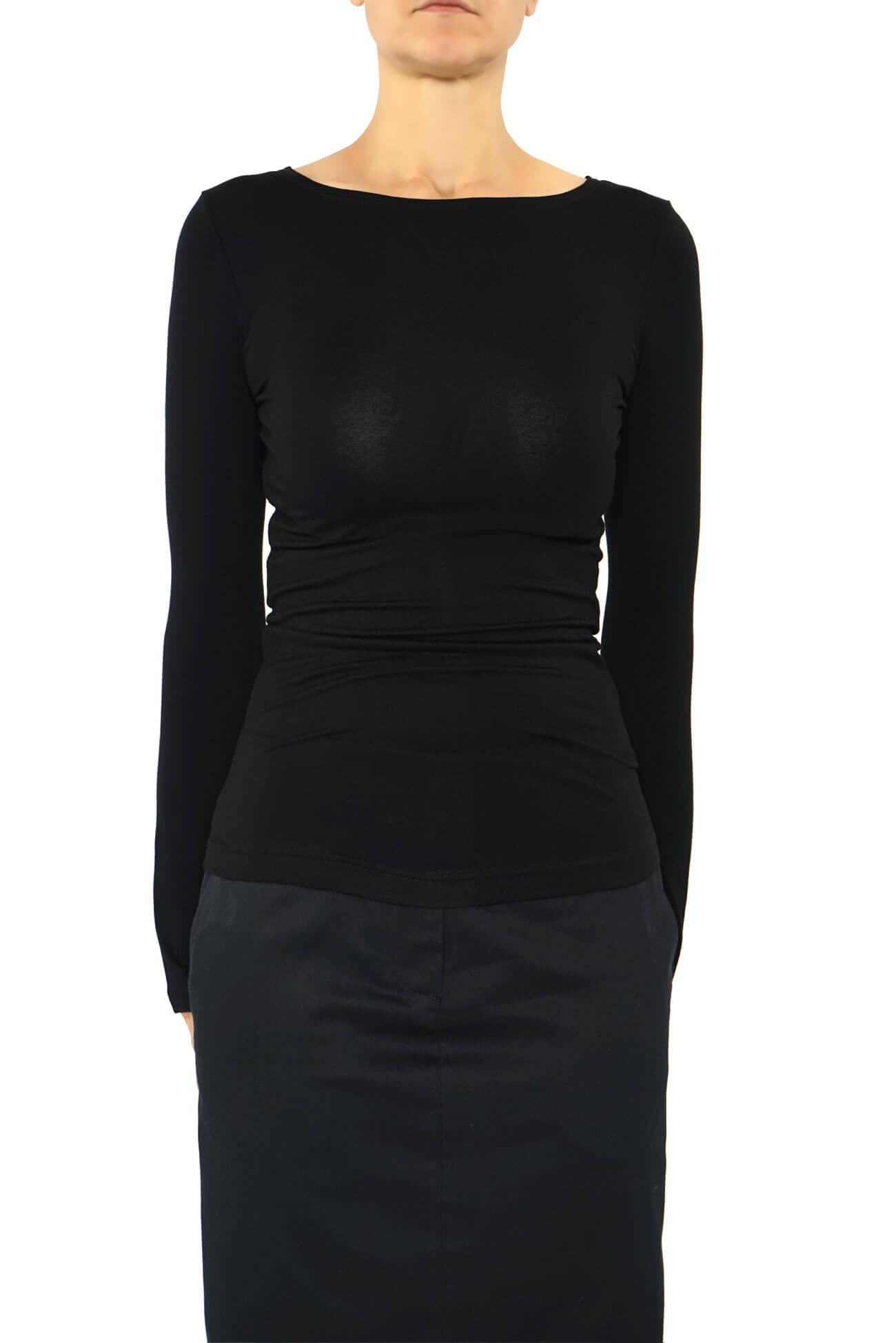bluza din vascoza cu maneca lunga