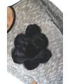 top tricot cu lame si floare aplicata
