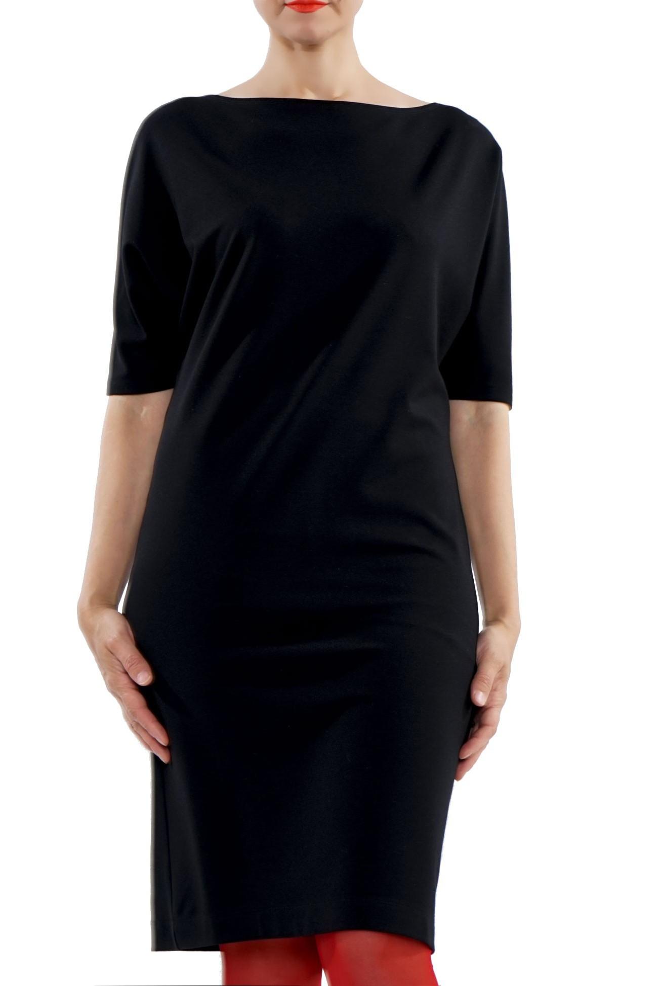 Rochie neagra cu maneca chimono