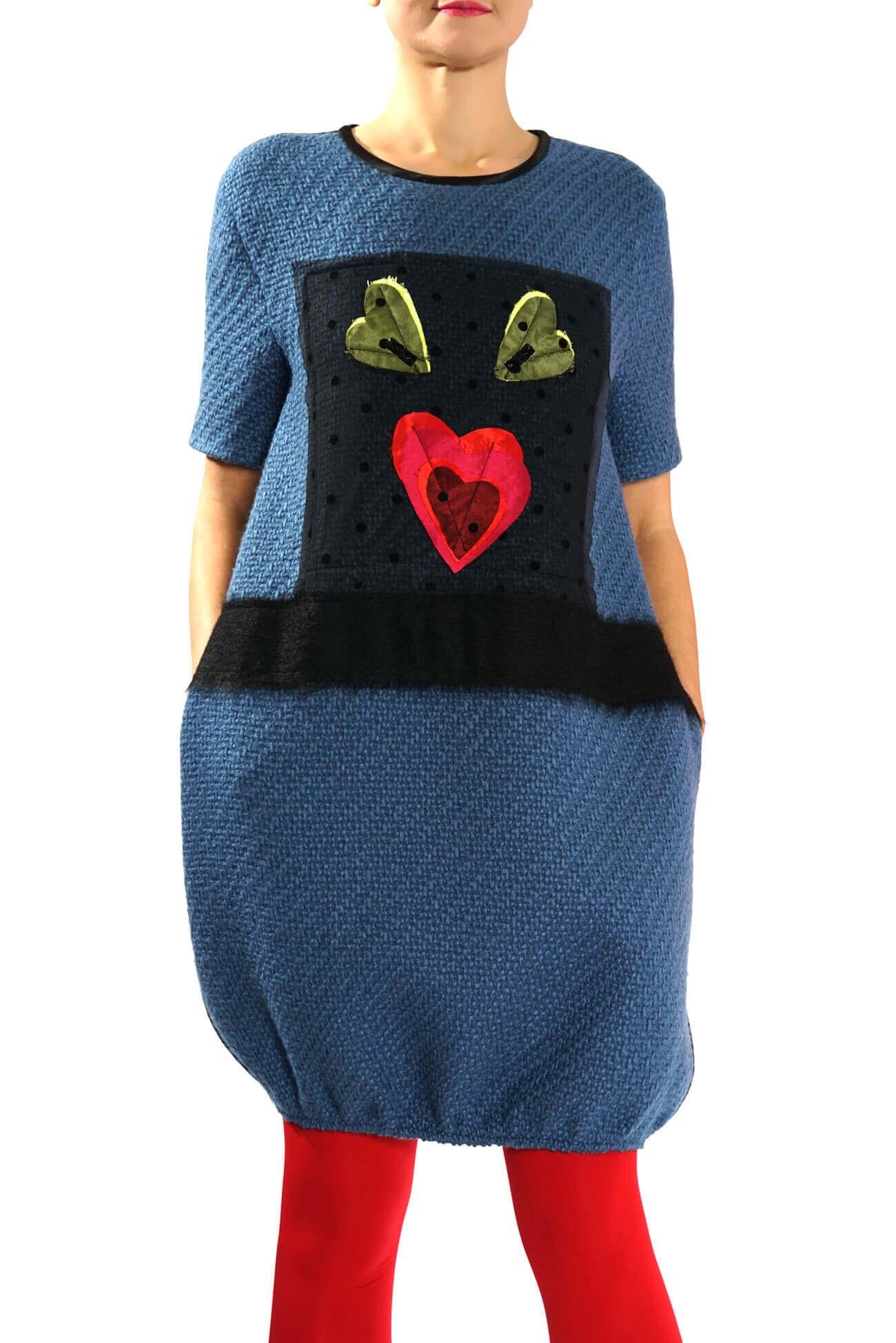Rochie cu accesoriu pasare