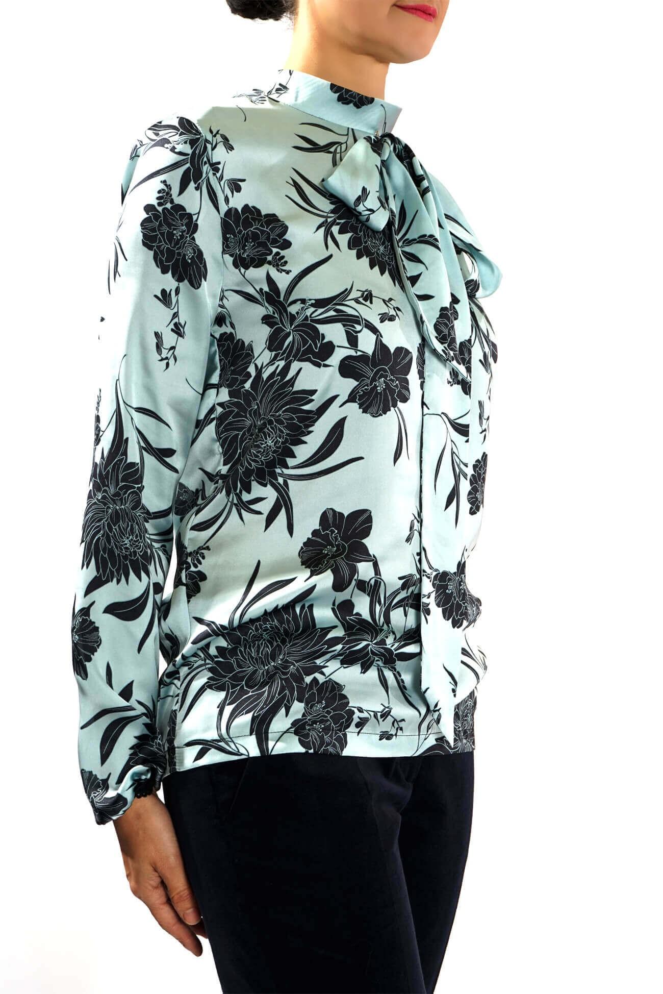 Camasa tunica din satinat imprimat