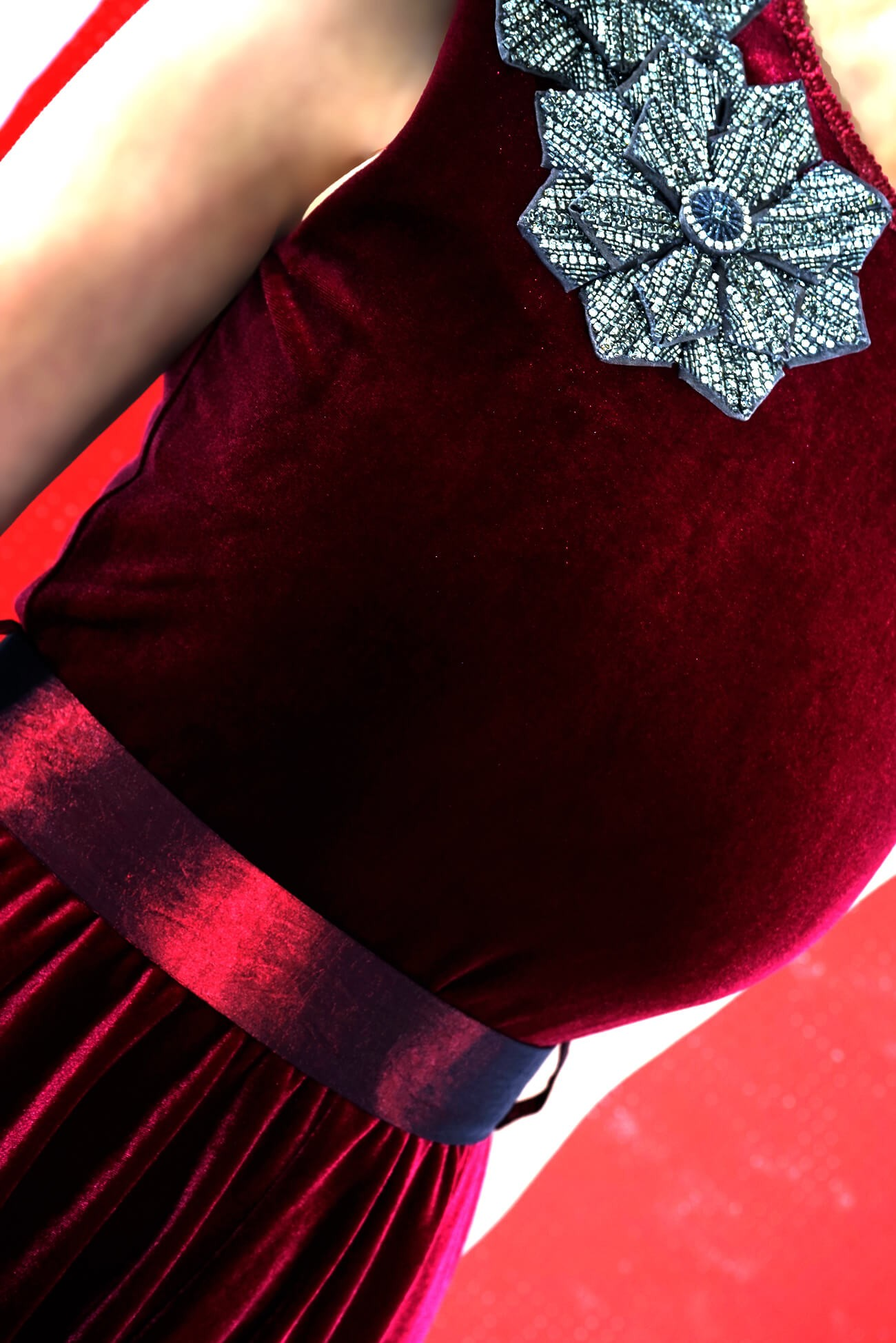 Rochie din catifea clos
