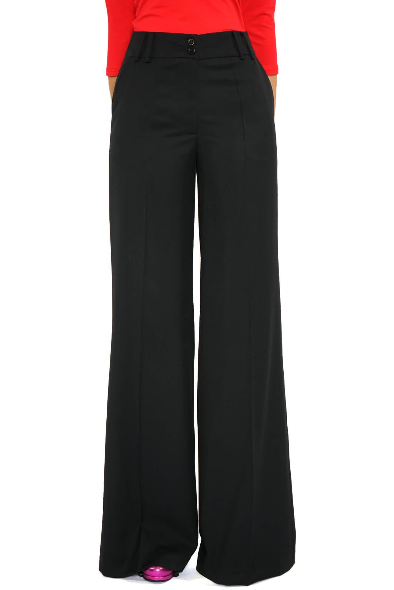 pantalon largi cu talie inalta