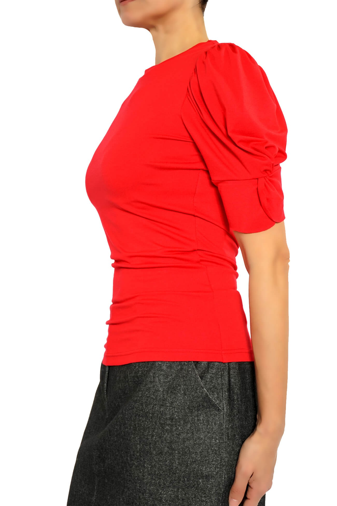 bluza din jerse cu maneci supradimensionate