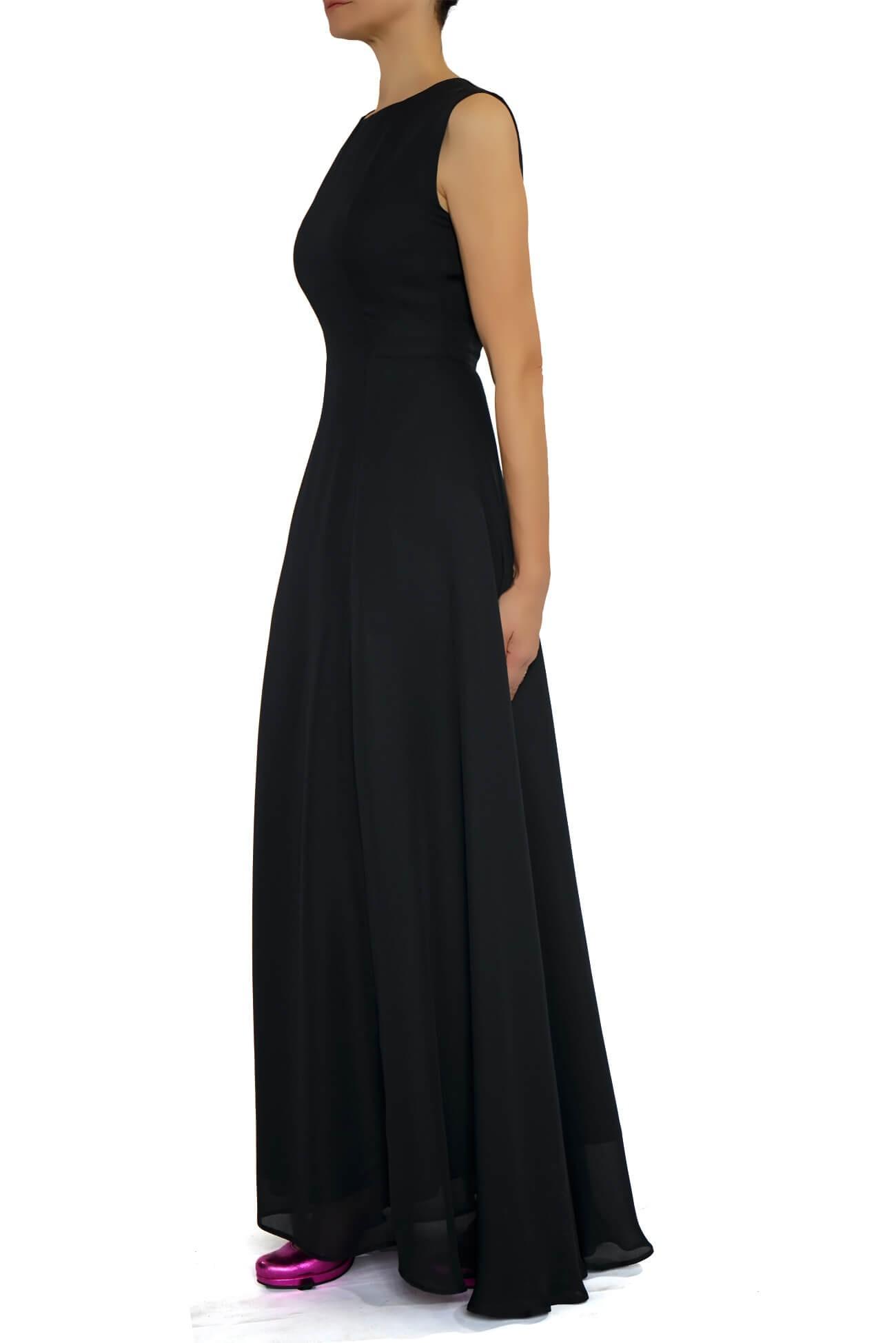 rochie maxi din voal