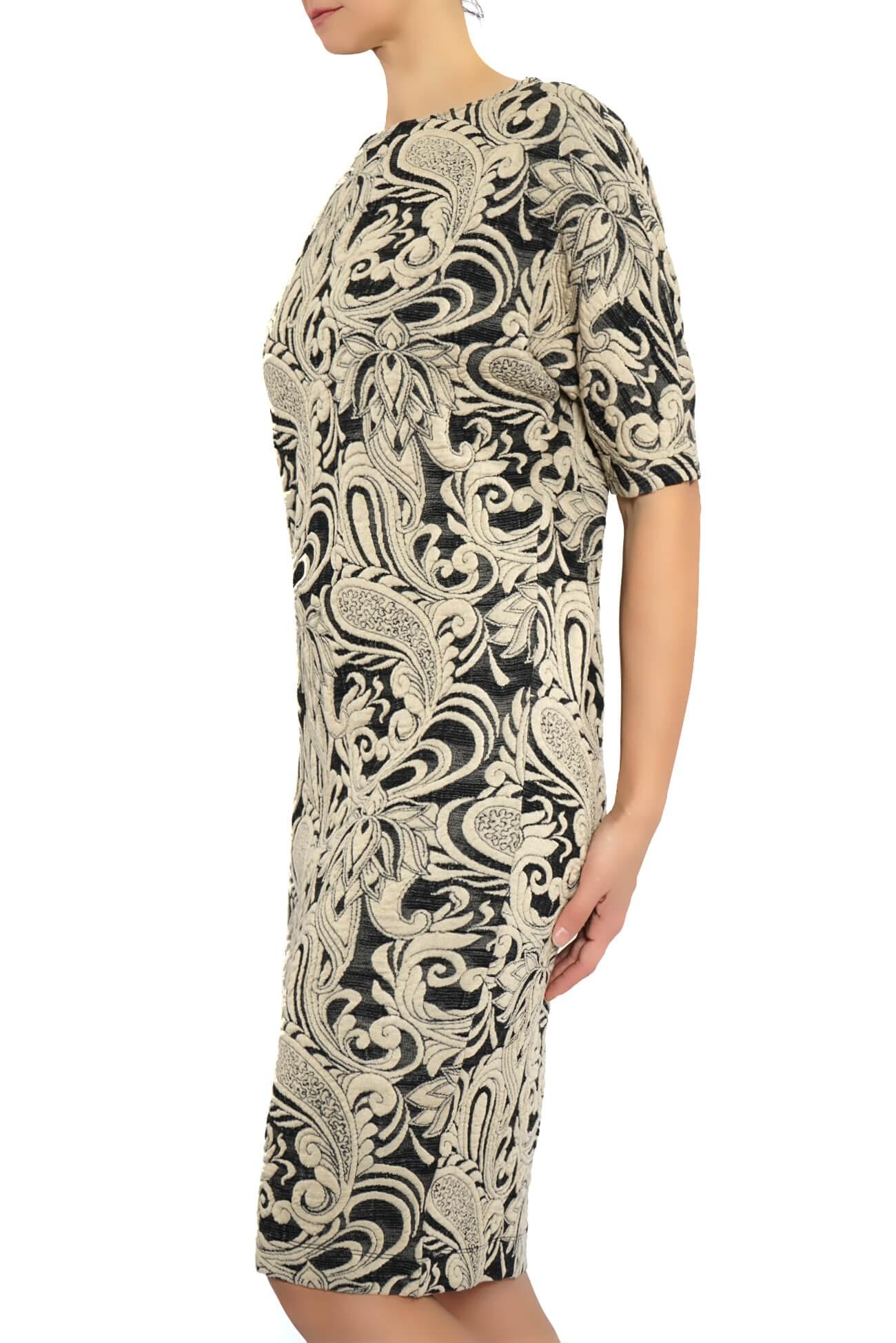 rochie chimono din jachard
