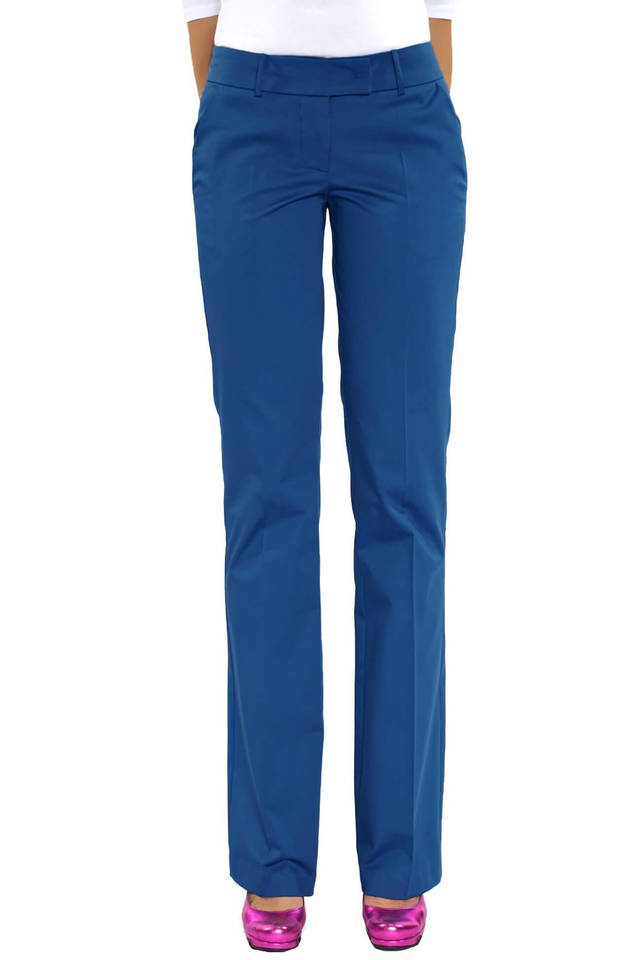 pantalon evazat din bumbc satinat  (  produs la precomanda  )