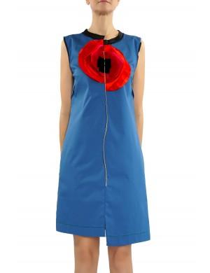 rochie din bumbac cu mac supradimensionat