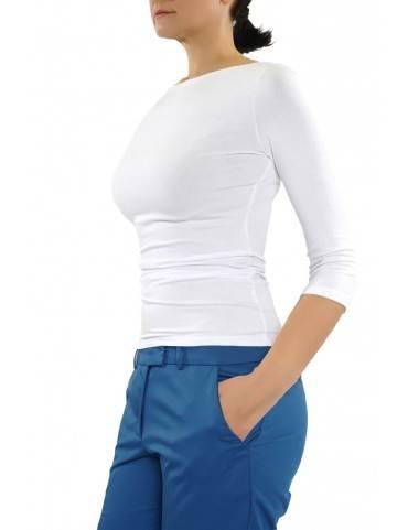 bluza din vascoza cu maneci trei sferturi  (  produs la precomanda  )