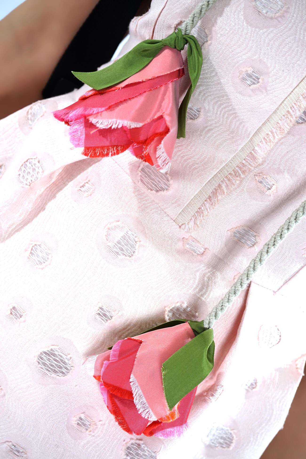 rochie din brocard cu pliuri in talie   (  produs la precomanda  )