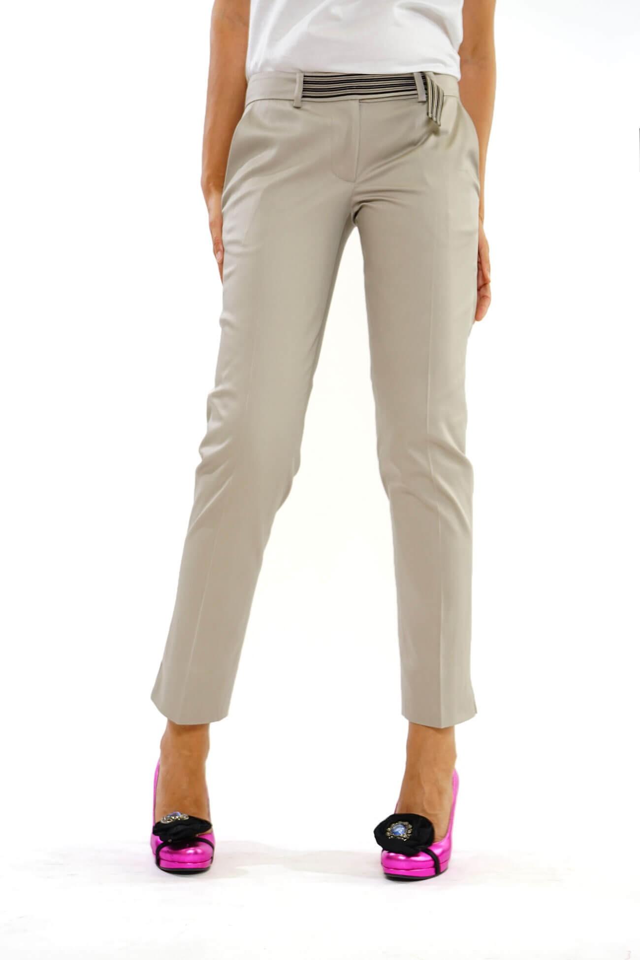 pantalon drept cu slituri (  produs la precomanda  )
