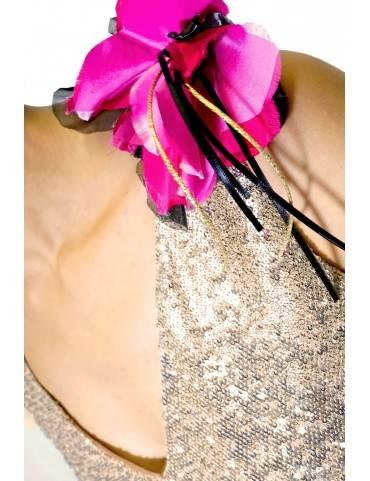 Rochie din paiete asimetrica
