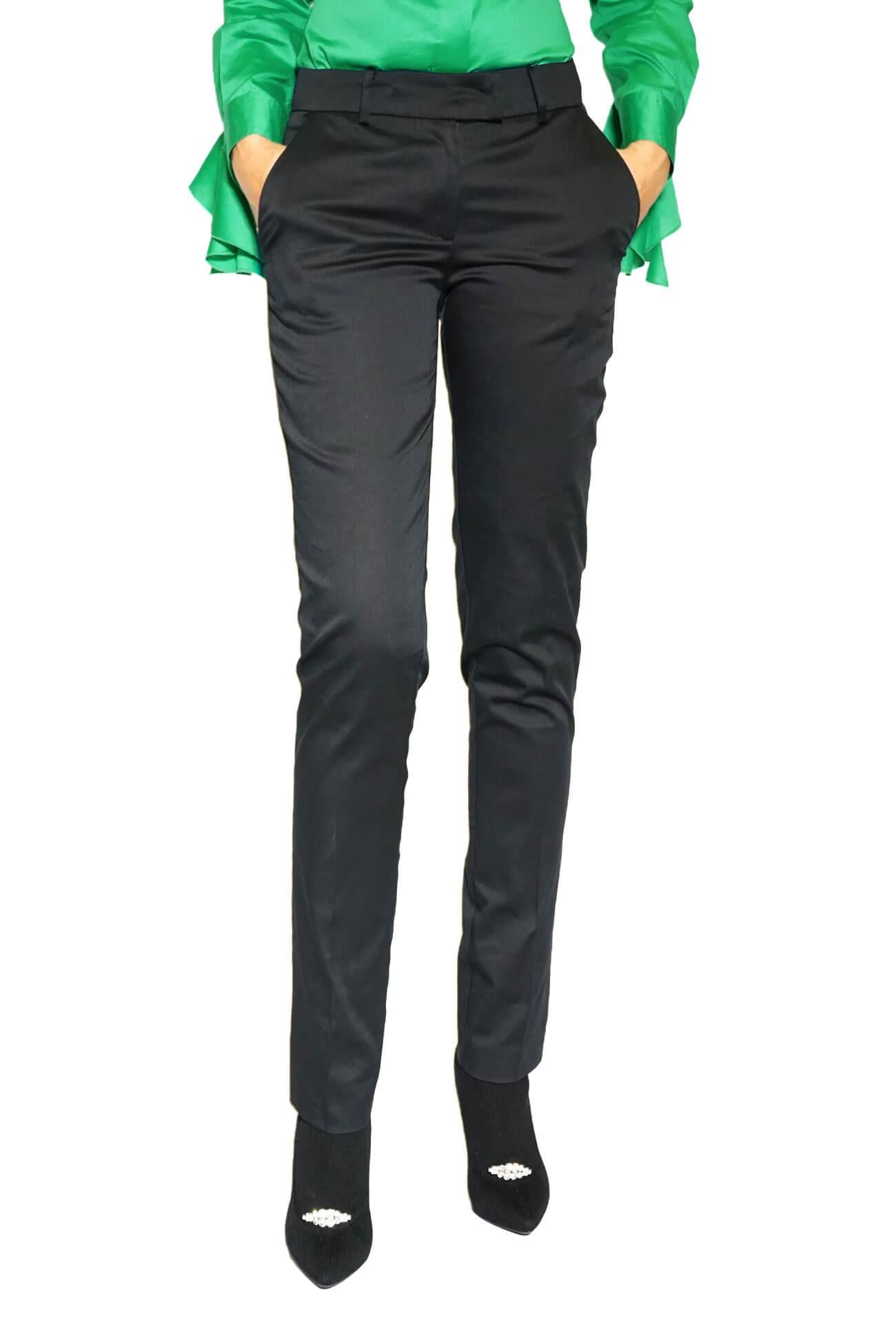 pantalon negru  lung drept