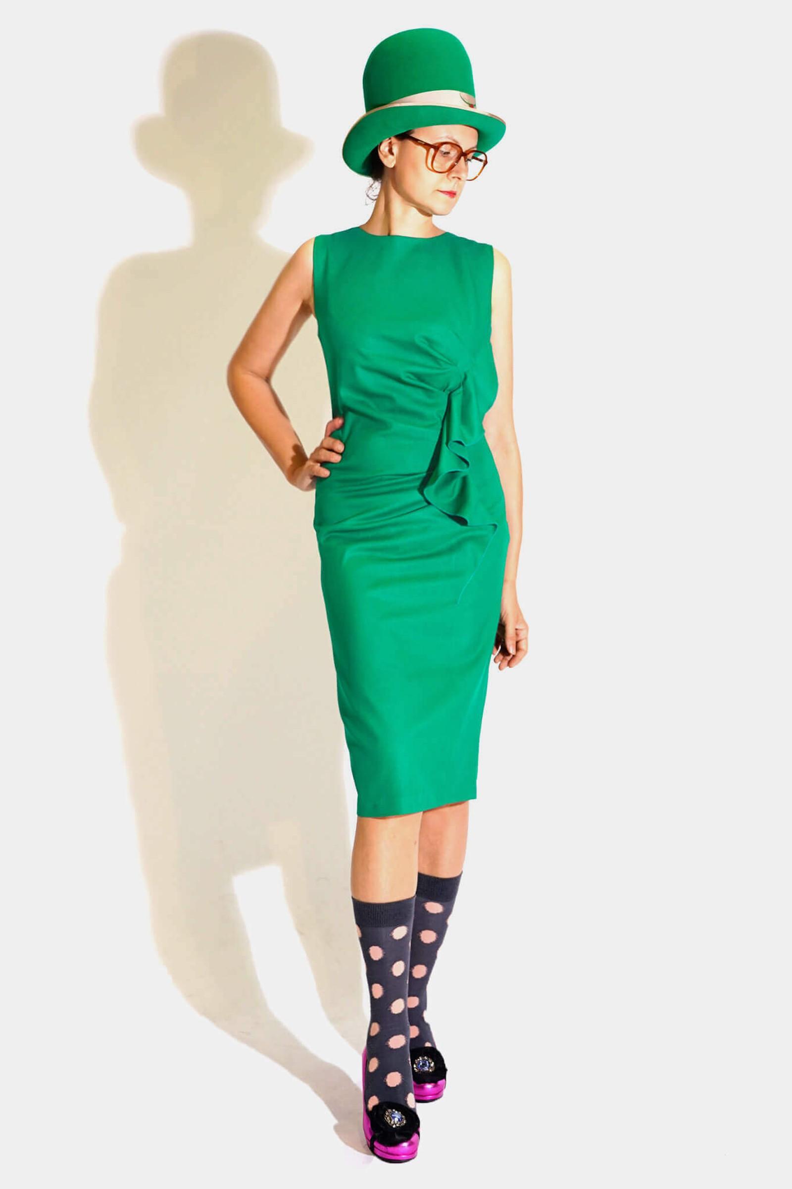 Rochie medie verde cu...