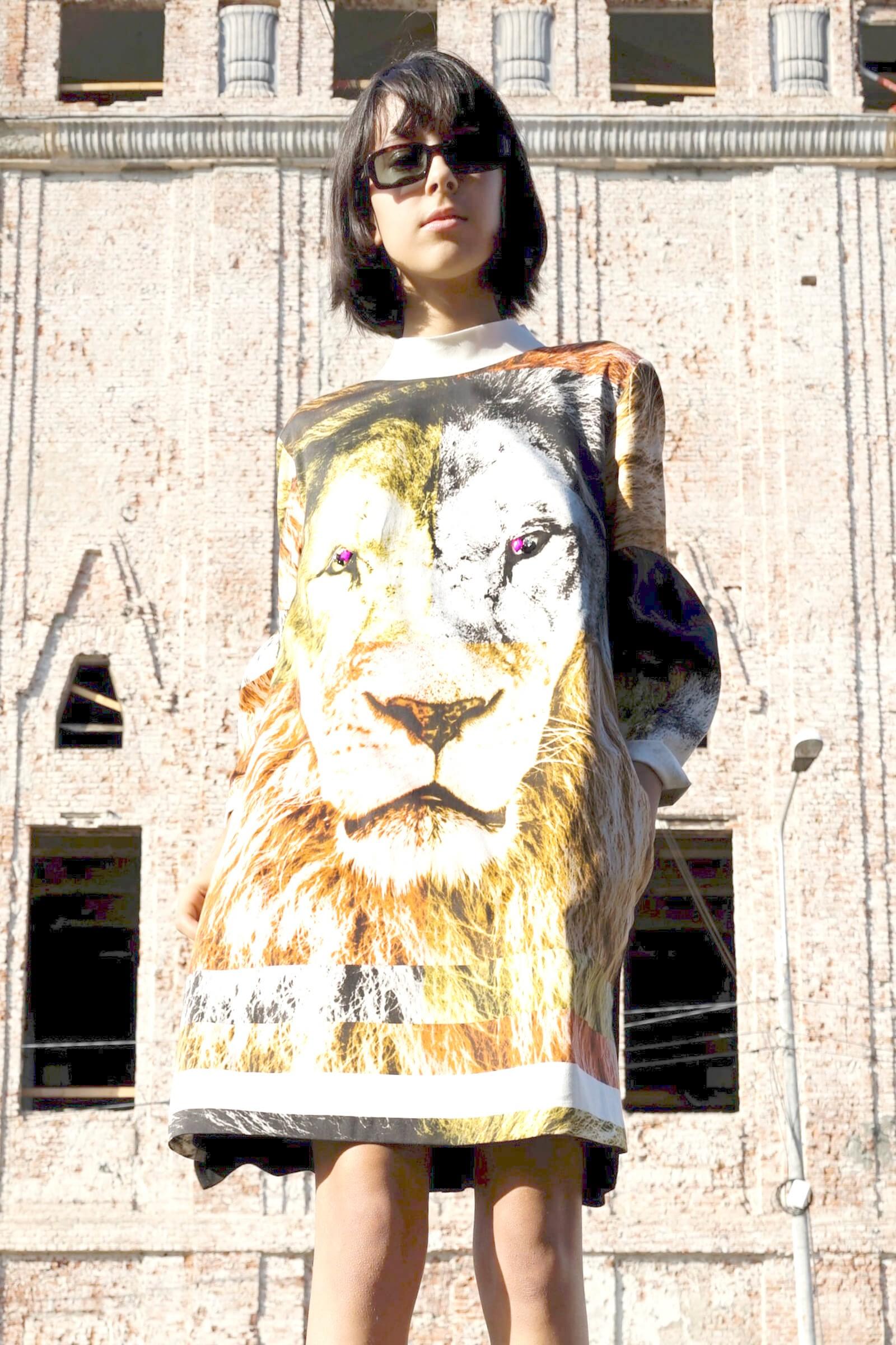 Rochie imprimeu leu