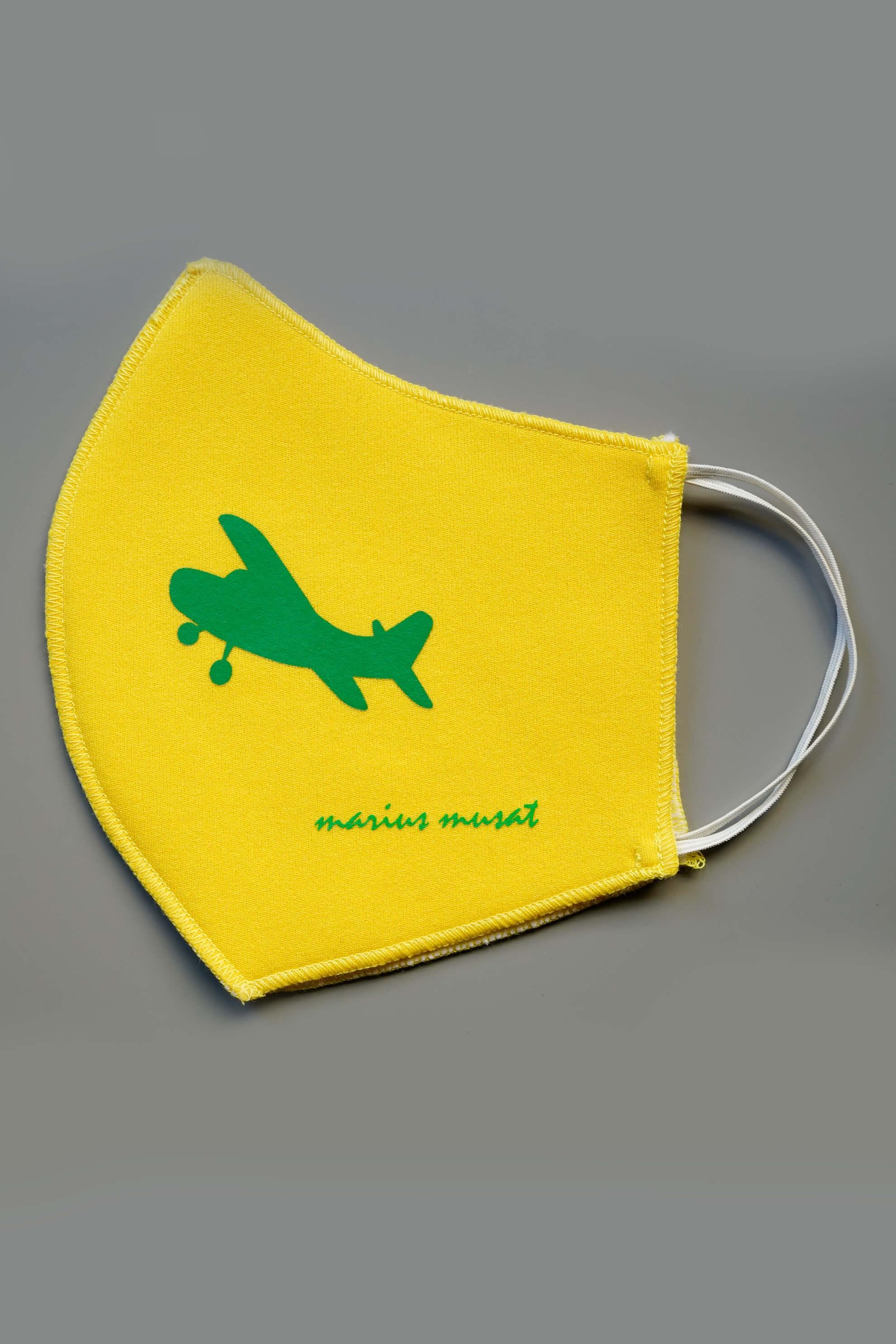 Masca galbena cu avion