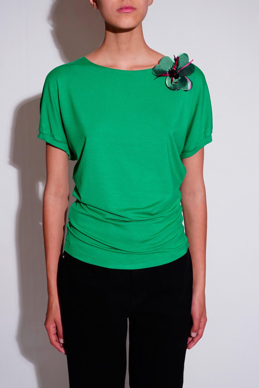 Bluza chimono din jerse verde