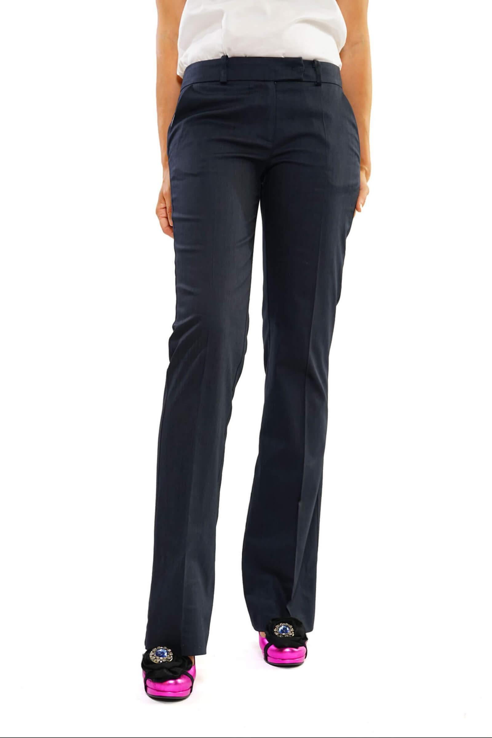Pantaloni bleumarin evazati