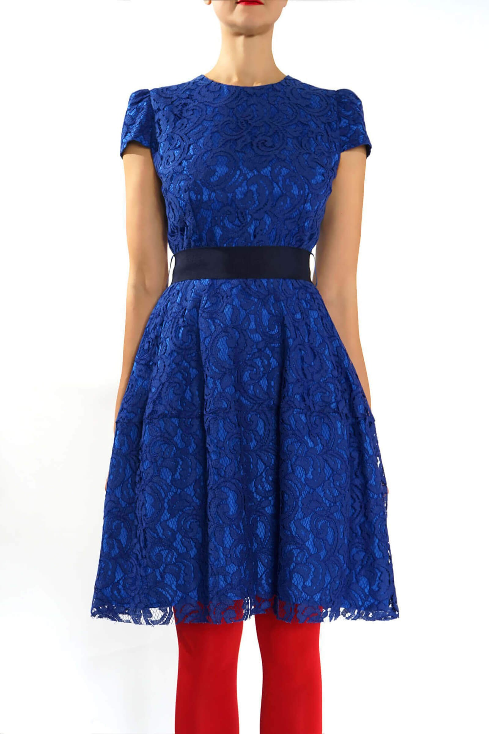 Rochie din dantela albastra